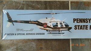 PENNSYLVANIA STATE POLICE HELICOPTER 1/43 BELL JET RANGER White Rose Collectible