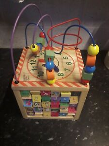 Baby's Wooden Activity Cube