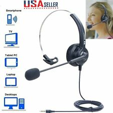 3.5mm Headphones Call Center Noise Cancelling Headsets For PC Laptop Computer