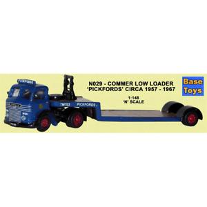 B-T MODELS N029 1:148 N GAUGE COMMER LOW LOADER PICKFORDS MODEL RAILWAY
