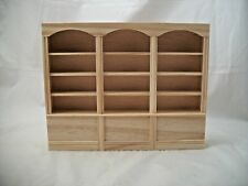 Bookcase 3 Units 5009 dollhouse miniature 1/12 scale Houseworks unfinished wood
