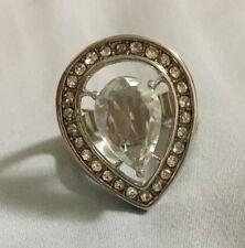 Forever Paula Abdul Avon Look of Fine Teardrop Ring sz 10 Clear stone NIB