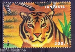 Tiger, Wildcats, Wild Animals, Tanzania 1999 MNH