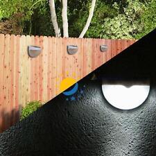 6-LED extérieur Jardin Solar Power Site Fence clair Gutter cour Applique toit DC