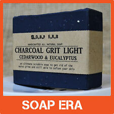 ACTIVATED CHARCOAL GRIT Light- odour removal- all natural cold process  soap