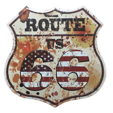 ROUTE 66 Shield US Embossed Metal Tin Sign Man Cave Garage Motel Pub Bar 3