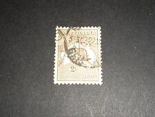 "1913 AUSTRALIA Stamps ""Kangaroo"" 2/- BROWN Crown over ""A"" Wmk  FINE USED SG12"