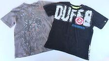 Set 2 garçons Gris Noir T Shirt Top 10 Ans Tee chimie Duffs Job Lot Spray