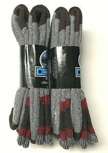 4 Pair Men's Premium Acrylic & Merino Wool Work Gray Crew Sock SZ 10-13.USA