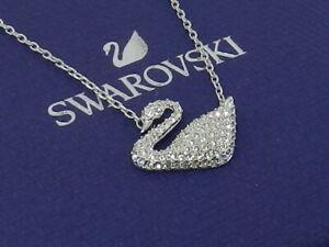 SWAROVSKI ICONIC SWAN PENDANT  white  RHODIUM Plated 5007735