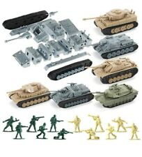 WW2 Army Tank and Army Men Toys Playset,6 Take Apart