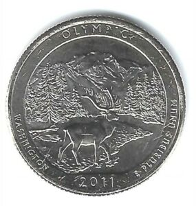 2011-D Brilliant Uncirculated Olympic National Park Quarter Coin!