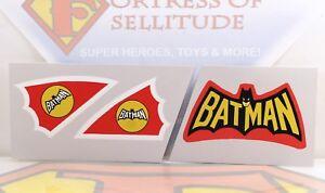 """Repro Mego 8"""" scale Vehicle parts- Batcopter UNCUT stickers,emblem,decal,Batman"""