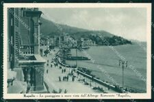 Genova Rapallo Passeggiata a Mare cartolina RT0516