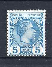 "MONACO STAMP TIMBRE 3 "" PRINCE CHARLES III 5c BLEUE 1885 "" NEUF xx LUXE  P834"