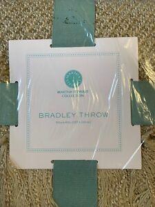 Martha Stewart Collection Bradley Throw Blanket Tan 50x60in 100% Acrylic NWT