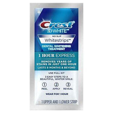 Crest 3D White No Slip Whitestrips  Whitening Kit 1 Hour Express 6 pack ex 920