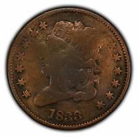 1833 1/2c Classic Head Half Cent SKU-Y2255