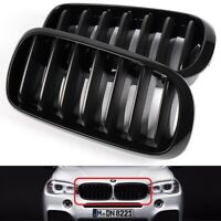 For 2014-2018 BMW F15 X5 Gloss Black Front Hood Bumper Kidney Grille Grill