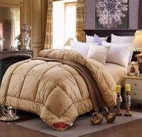 Luxury Camel Wool Cotton Quilt Blanket Duvet Comforter -Autumn/Winter Season