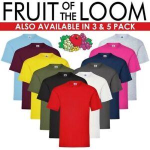 Fruit of the Loom Hommes 100% Coton Manches Courtes Uni T-Shirt