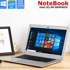 "14"" Inch Laptop Notebook Intel Quad Core 1.92GHZ HD 32GB eMMC 2GB Ram Windows 10"