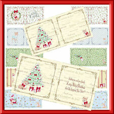 """6"""" X 6"""" CHRISTMAS LUXURY INSERTS  FOR SMALLER CARDS X PACK 1 (24 )"""