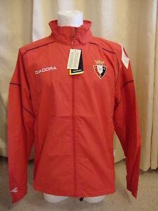 Osasuna Rain Jacket Coat by Diadora BNWT (S) Red
