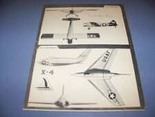 VINTAGE..DE HAVILLAND BEAVER & NORTHROP X-4  ...3-VIEWS...(#540)
