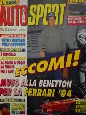 Auto & Sport ROMBO 42 1993 Ayrton Senna alla Williams al posto di PROST