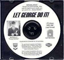LET GEORGE DO IT - 171 Shows Old Time Radio In MP3 Format OTR On 2 CDs