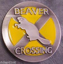 Pewter Belt Buckle animal novelty Beaver Crossing NEW