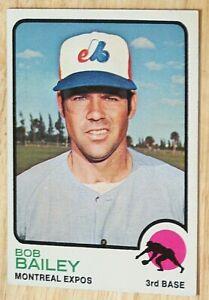 1973 TOPPS BASEBALL SET, #505 Bob Bailey, Montreal Expos, VGEX+