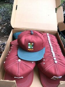 Vintage Agrigold Trucker Twill Hat Cap Snapback K Brand Products USA NOS Seed