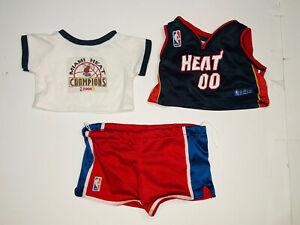 *LOT* Build-A-Bear Clothes NBA Miami Heat Jersey/2006 NBA Champions Shirt
