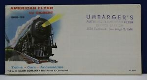 American Flyer 1958 Foldout Train Catalog 17x35 Poster Umbarger's San Diego CA
