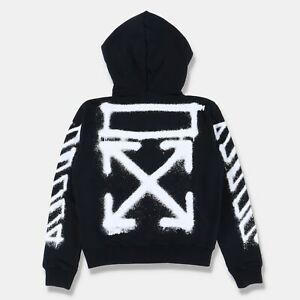 Off-White Black Spray Arrows Hoodie   Size L Regular fit SS21 RRP $580