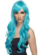 Womens Long Aqua Blue Desire Wig