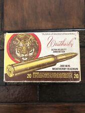 .300 Weatherby Magnum Tiger Ammo Box Ammunition Vintage