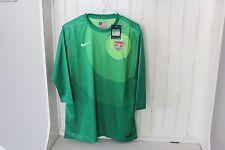 05 Nike USA Womens Soccer Goalie Goal keeper Jersey 3/4 Length 523749 Green XL