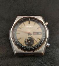 Seiko 6139-7080 Chronograph Automatic Watch Hexagon Vintage Dial Beige To Restor