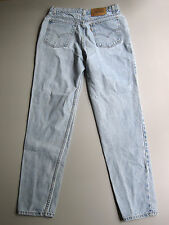 "Vintage Levi's High Waisted Mom Jeans Slim Fit Tapered 13 Light Wash Blue 31"""
