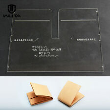 WUTA Leather Card Case Template Clear Acrylic Pattern Leathercraft  Tool  883