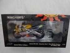 MINICHAMPS 1/12 VALENTINO ROSSI HONDA NSR 500 NASTRO AZZURRO LE MANS 2001 GP