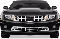 FITS CHEVY CAMARO LS/LT 2010-2013 CHROME ABS PLASTIC GRILLE OVERLAY INSERT 2PCS