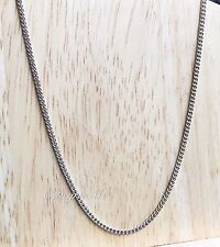 Plain Thin Fine Silver Plated Extra Long Chain Necklace Quality Costume Fashion
