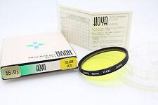 Hoya 55 Mm Y (K2) Filtre Jaune et cas. Pour b&w Film (excellent état), Reflex