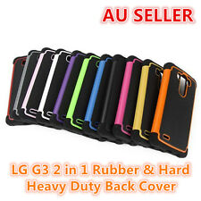 LG G3 Rubber and Hard 2 in 1 Heavy Duty Back Cover Case