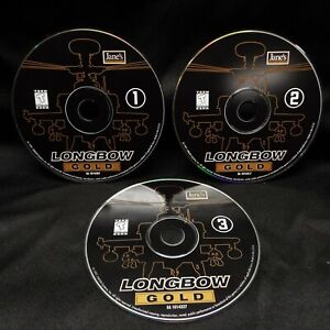 Janes Combat Simulation Apache AH-64 Longbow Gold PC Windows 95 98 XP CD-ROM