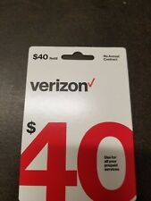 LOT 2  $40 Verizon Wireless Prepaid Refill Card email delivery!